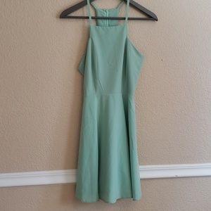 Lulus light green a frame dress